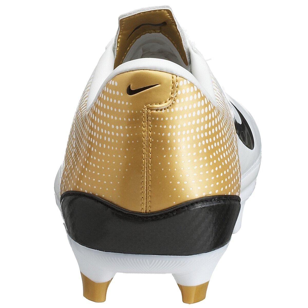 NIKE Steam FG Fussball Stollen Schuh, Größe 6.5, weiss