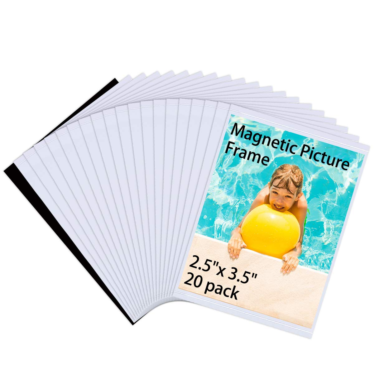 HIIMIEI Wallet Size Magnet Photo Frame Refrigerator 2.5x3.5, 2x3 Magnetic Picture Frame Fridge