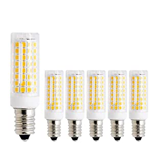MD Lighting 10W E12 Mini Dimmable LED Candelabra Bulbs (6 Pack)- 3000K Warm White Replacement 80W Equivalent Incandescent Bulbs, E12 Ceramic Corn Light Bulbs for Home Lighting, Ceiling Fan, AC120V