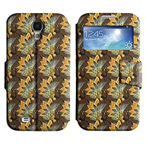 Be-Star Diseño Impreso Colorido Slim Casa Carcasa Funda Case PU Cuero - Stand Function para Samsung Galaxy S4 IV / i9500 / i9505 / i9505G / SGH-i337 ( Detailed Flower )