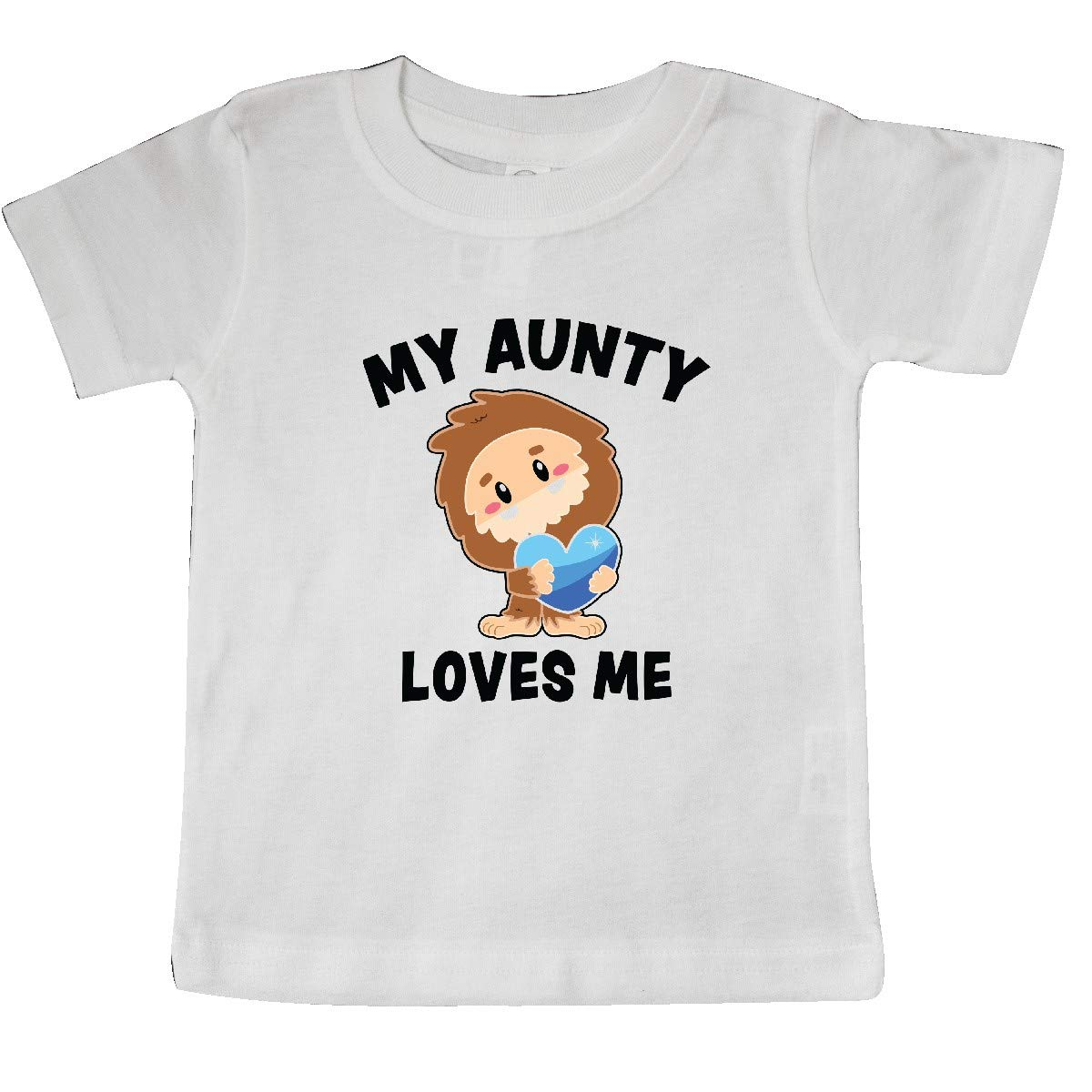 inktastic Cute Bigfoot My Aunty Loves Me Baby T-Shirt