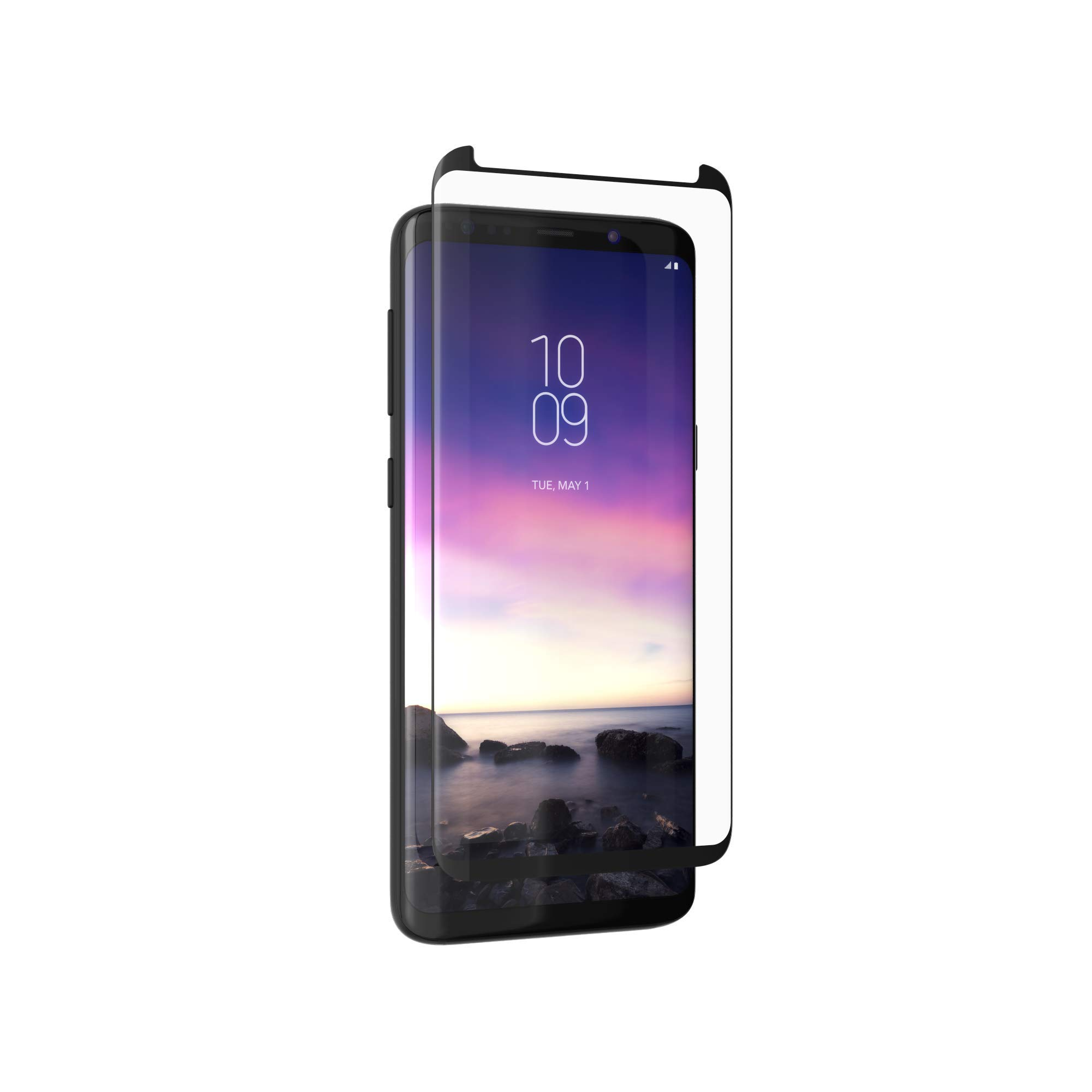 ZAGG InvisibleShield Glass Curve- Screen Protector Made for Samsung Galaxy S9 - Clear by ZAGG