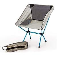 TSSM Camping Stuhl Klappstuhl mit Tragegurt, Rückenlehne Atmungsaktive Aluminiumlegierung Freizeit für Reisen zu Fuß Angeln Bergsteigen