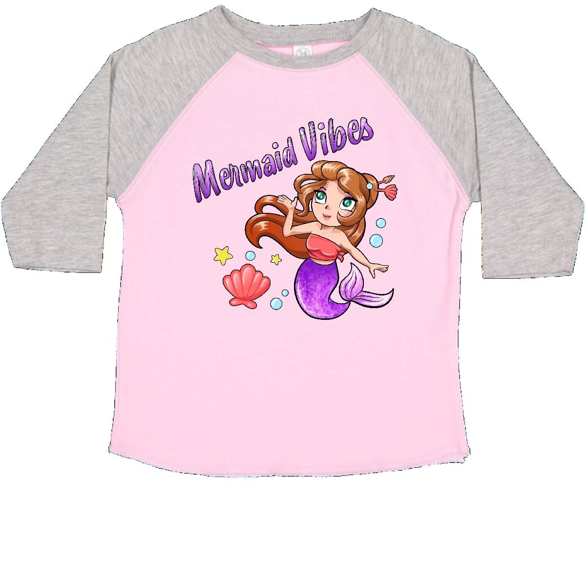 Cute Mermaid with Purple Tail Toddler T-Shirt inktastic Mermaid Vibes