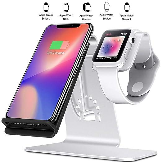 Mengen88 Teléfono móvil Cargador inalámbrico 2 en 1 para ...