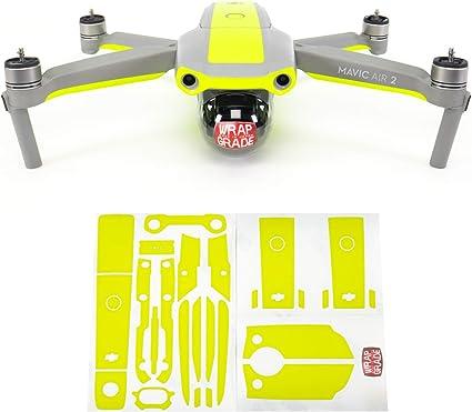 Main Unit NEON Yellow Wrapgrade Skin Compatible with DJI Mini 2