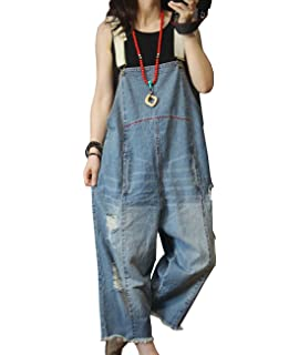 d6e69a4f0fd0 YESNO P60 Women Jeans Cropped Pants Overalls Jumpsuits Hand Painted Poled  Distressed Casual Loose Fit