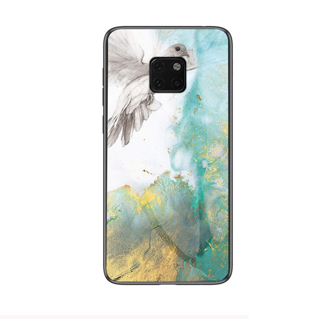 Felfy Kompatibel mit Huawei Mate 20 Pro H/ülle Rot,Kompatibel mit Huawei Mate 20 Pro Handyh/ülle Geh/ärtetes Glas Back Case Marmor Muster Schutzh/ülle TPU Silikon /& Glas Hart Case Kratzfest Cover