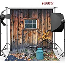 FSMY 5x7ft Vintage Door Photography Backdrops,Photography Background Photo Backdrops for Photo Studio Props