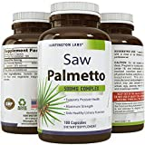 Natural Saw Palmetto Supplement – Hair Loss + Testosterone Support – Purest Berry Extract – Powder in Food-Grade Capsules – Rapid Absorption + Fast Acting – USA Made – Guaranteed by Huntington Labs