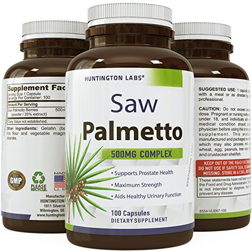 Natural-Saw-Palmetto-Supplement--Hair-Loss-Testosterone-Support--Purest-Berry-Extract--Powder-in-Food-Grade-Capsules--Rapid-Absorption-Fast-Acting--USA-Made--Guaranteed-by-Huntington-Labs