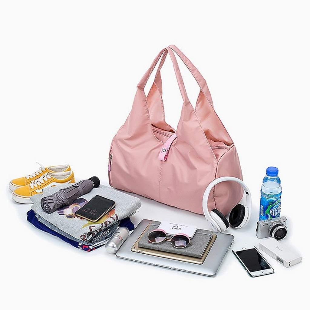Travel Duffel Bag for Men and Women Color : Pink Sport Duffle Holdall Bag Training Handbag Yoga Bag Weekend Travel Dry Wet Separation Shoes Isolation Swim Bag