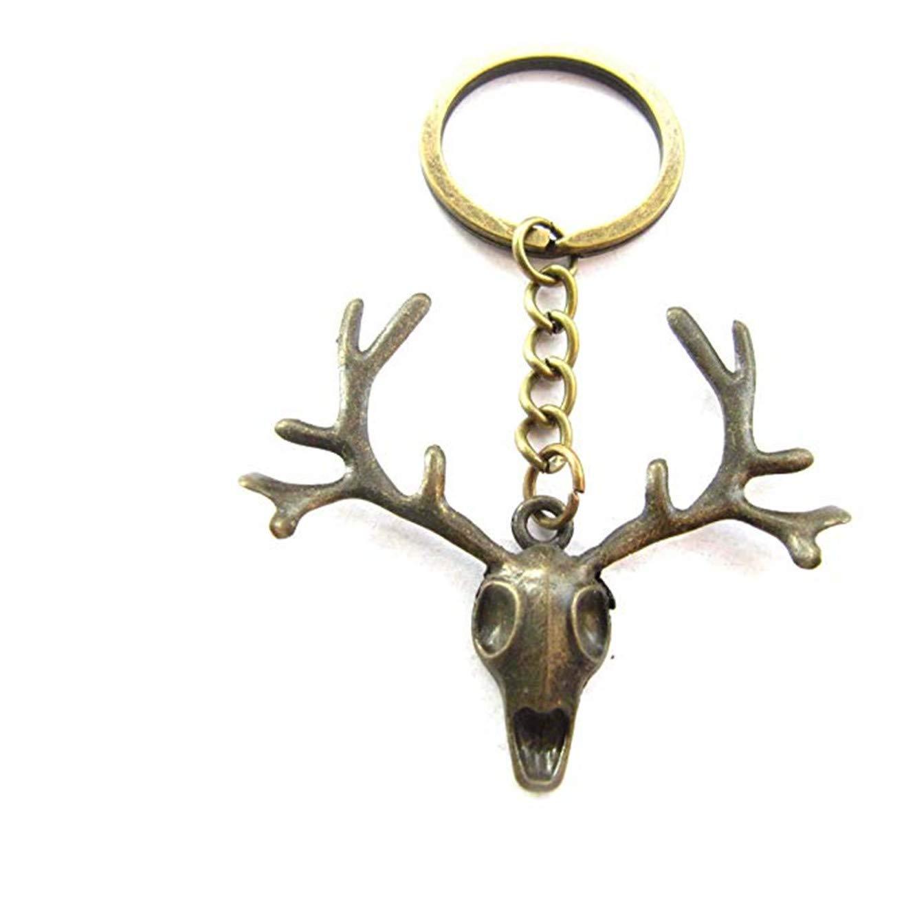 Amazon.com: Llavero de ciervo, llavero de caza, llavero de ...