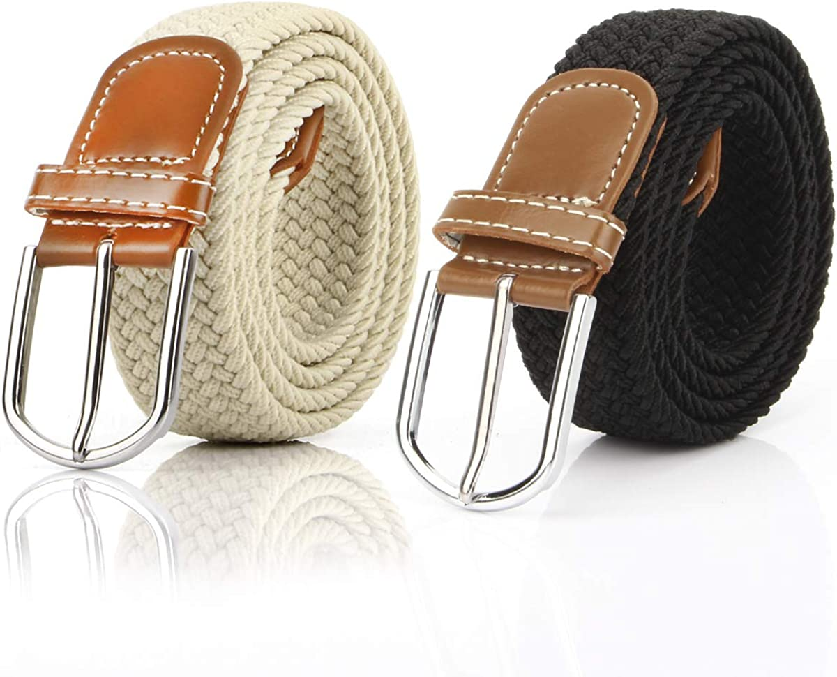 2PCS Elastic Braided Belt...