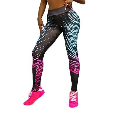 Pantalones Yoga Mujer Mallas Deportivas Punto Deporte Leggins ...