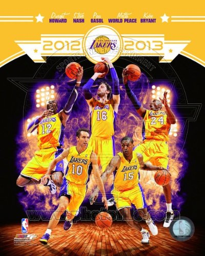 NBA Los Angeles Lakers 2012-2013 Team Composite Photo 8x10 ()
