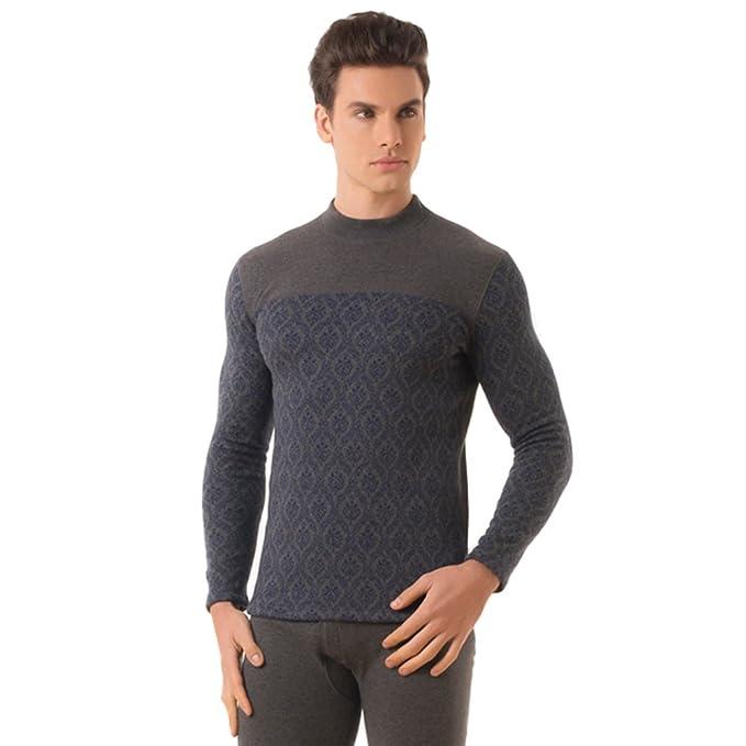 ropa interior/Cuello alto hombre invierno acolchada ropa térmica gruesa/Traje térmico-A