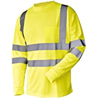 L&M Hi Vis T Shirt ANSI Class 3 Reflective Safety Lime Orange Short Long Sleeve HIGH Visibility
