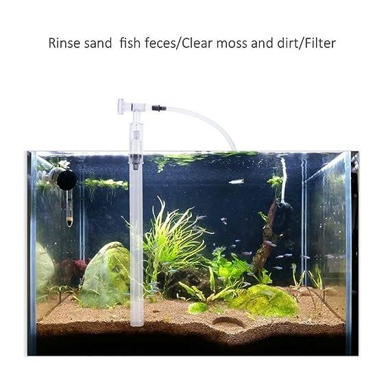 SODIAL Conjunto de Kit de limpiador de tanque de peces de acuario, Limpieza de la bomba de filtro de grava, Limpiador de arena de Sifon Aspiradora de grava ...