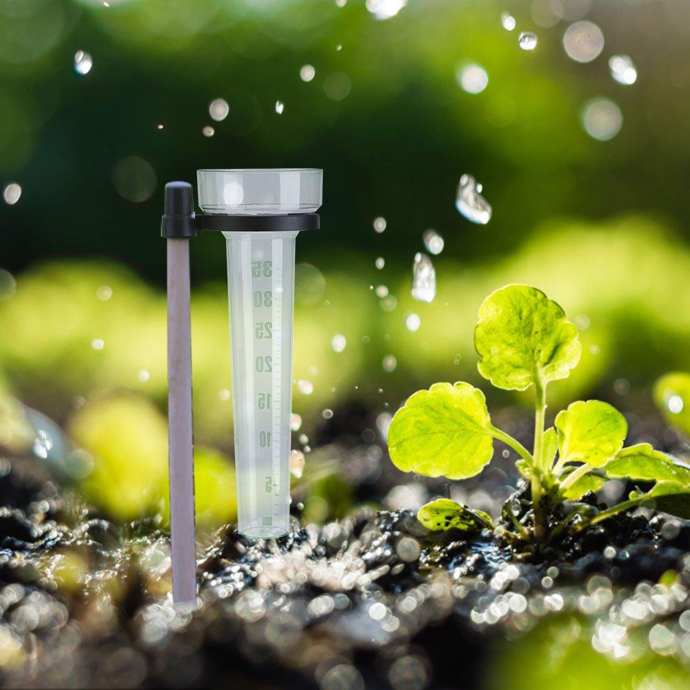 Rain Gauge Plastic Tube Udometer Easy to Read for Outdoor Garden Yard 35mm Capacity