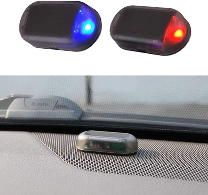 Kylewo Auto Solar Energy Alarm Dummy Led Licht Solar Power Anti Diebstahl Warnleuchten Warnung Anti Diebstahl Auto