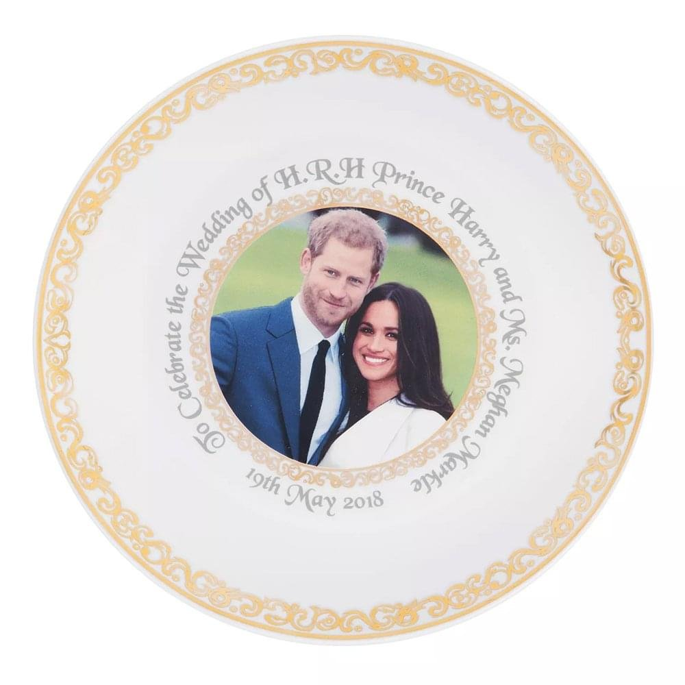 Royal Wedding New Bone China Plate to Commemorate the Marriage of HRH Prince Harry to Meghan Markle Widdop