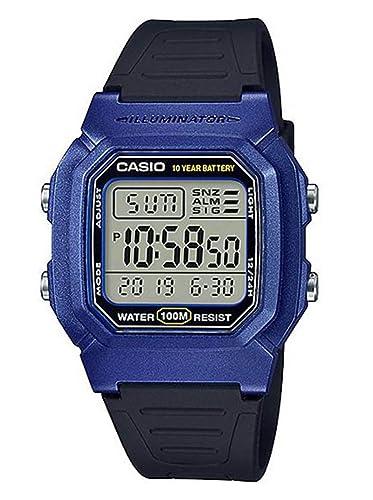 Casio Reloj Digital para Hombre de Cuarzo con Correa en Resina W-800HM-2AVEF: Amazon.es: Relojes
