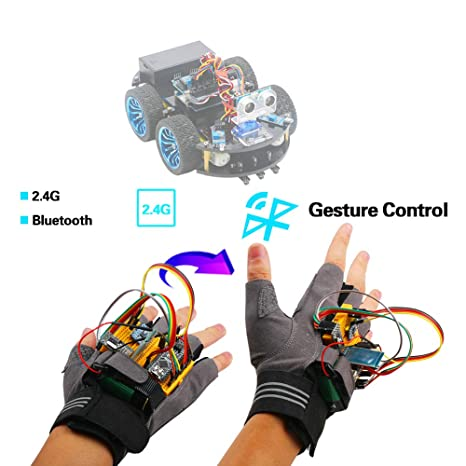 Emakefun Gesture-Motion Starter Kit for Arduino Nano V3 0 Support Robot  Smart Car with MPU6050 6 Axis Accelerometer Gyroscope Module,NRF24L01+