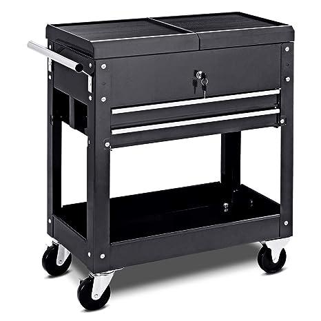 Incredible Rolling Tool Cart Mechanics Slide Top Utility Storage Cabinet Organizer 2 Drawers Ibusinesslaw Wood Chair Design Ideas Ibusinesslaworg