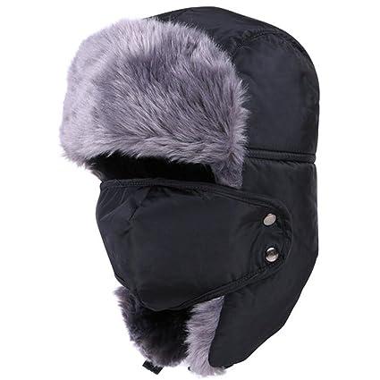 gespout uomini e donne inverno caldo ispessimento cappello di neve giro  vento densità cappelli passamontagna Tenere 1cdb0be679e5