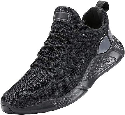 Zapatillas de Deportes Hombre Antideslizante Zapatos para Correr Transpirables Zapatos Casual Gimnasio Sneakers Running: Amazon.es: Zapatos y complementos