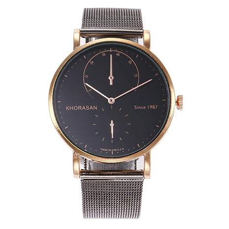 Relojes Hombre Oferta, Moda Hombre Ladies Reloj Acero Inoxidable Analog Analog Reloj Bracelet New BK