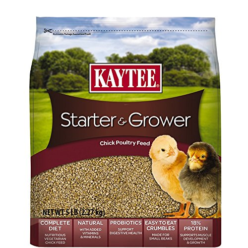 - Kaytee Chicken Starter Grower Crumble, 5 Pound
