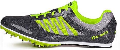 ZLYZS Zapatos De Atletismo, Zapatillas De Deporte con 7 Clavos Zapatillas De Entrenamiento Zapatillas De Atletismo De Salto Ligeras para Jóvenes/Niños/Niños Y Niñas: Amazon.es: Deportes y aire libre