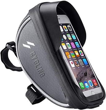 Bolso de la Bicicleta de Bicicletas de montaña Bolsa de Upper Saddle Bag Bolsa Haz Manejar la Bolsa de complementos de equitación (Color : Black, Size : 0.5L): Amazon.es: Equipaje
