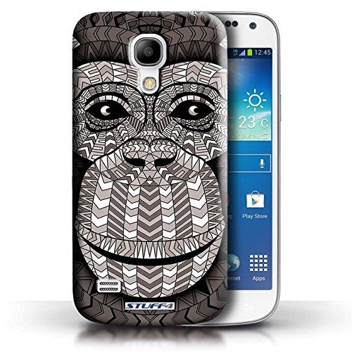 Coque de Stuff4 / Coque pour Samsung Galaxy S4 Mini / Singe-Mono Design / Motif Animaux Aztec Collection