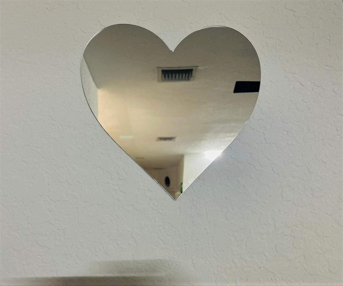 Fancy Heart Shaped Acrylic Mirror Wall Decor 30 x 24 cm