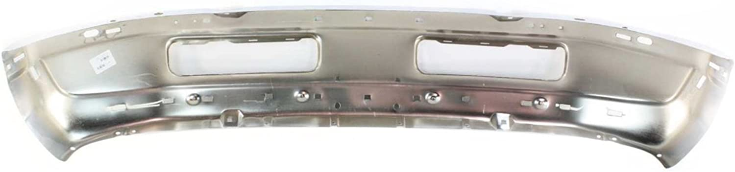 CH1002256 Chrome Steel Front Bumper Face Bar for 1994-2001 Dodge RAM 1500 2500 3500 Pickup 94-01 MBI AUTO