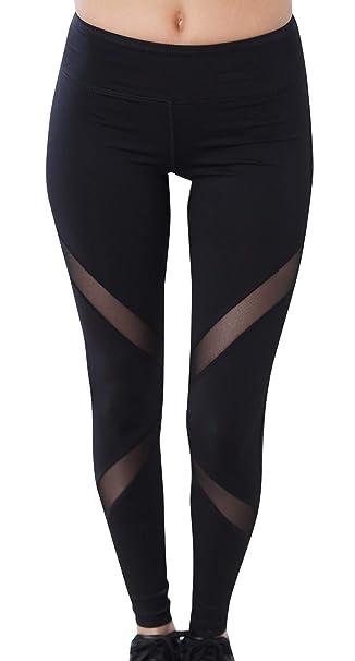 985fdc67a7e7e FEOYA Mujer Leggings Deportivo Pantalones con Malla Transpirable Secado  Rápido para Yoga Jogging Gym  Amazon.es  Ropa y accesorios