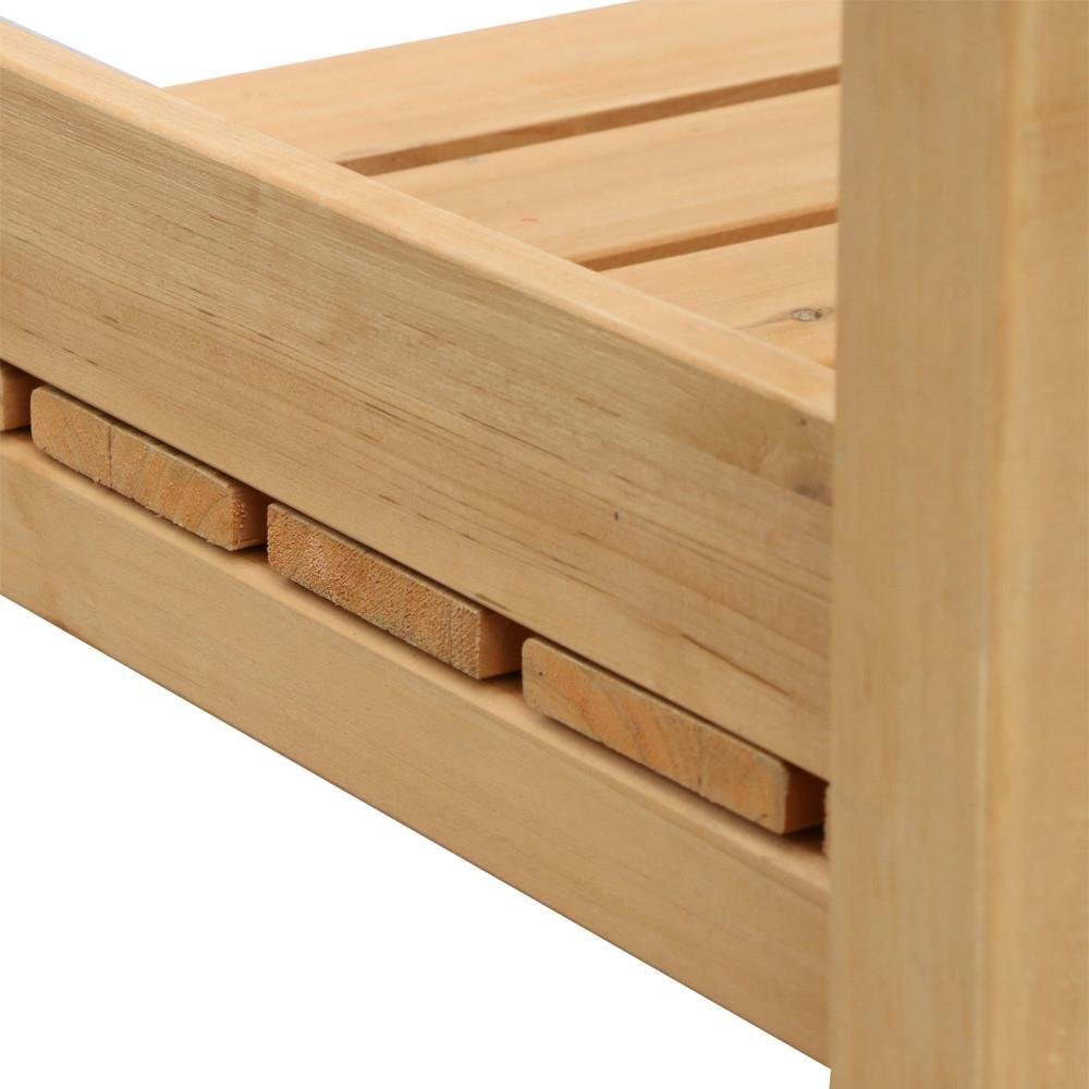 go2buy Wood Potting Bench Outdoor Garden Planting Work Station Table Stand Natural Finish by Gotobuy (Image #9)