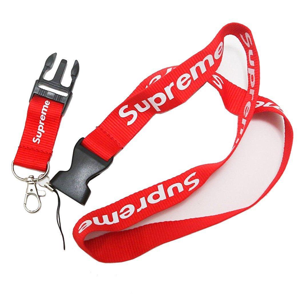 Correa para llaves, teléfono móvil o tarjeta de identificación de Supreme Lanyard Urban Streetwear