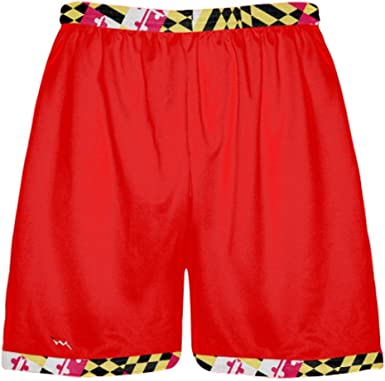 Red Youth Maryland Flag Shorts Red Youth