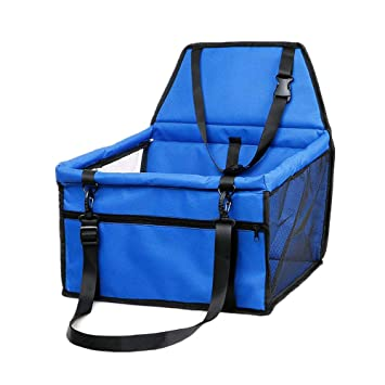 Playpen Easy Folding Great for Small Dogs Blue Waterproof Travel Carrier Bag Cage with Clip-On Safety Leash Cats Sinrextraonry Dog Cat Puppy Pet Car Booster Seat with Seat Strap
