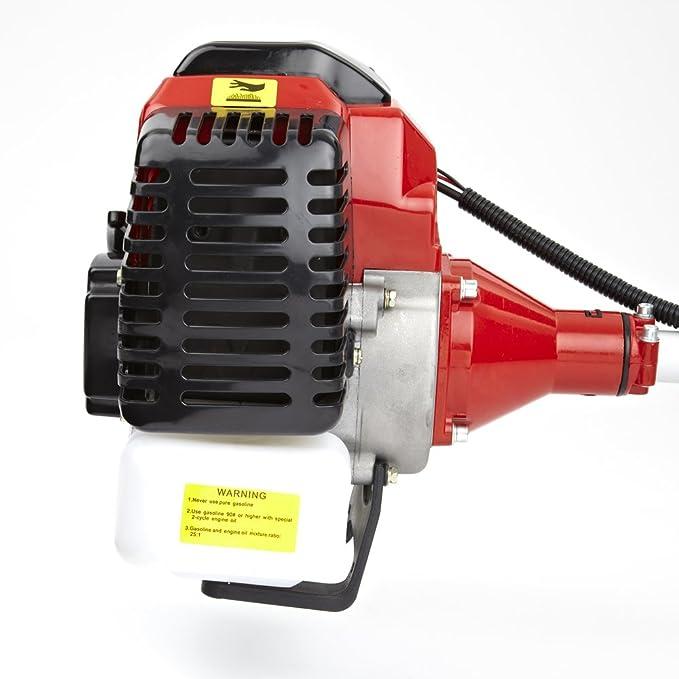 Trueshopping® - Desbrozadora cortabordes de explosión 52 cc, 2,2 kW / 3HP