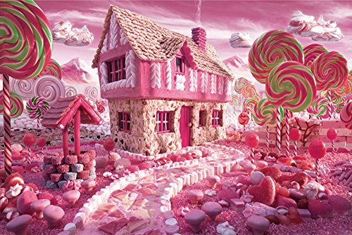 1000 Pieces Of Linden Wood Cartoon Puzzle Toys, Pink Candy (Cartoon House)
