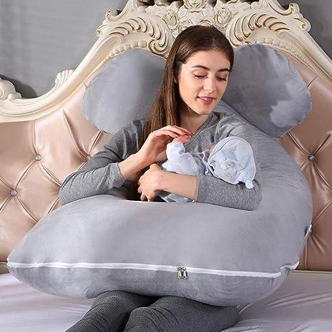 AceWoo Almohada de Embarazo y Lactancia para el bebé ...