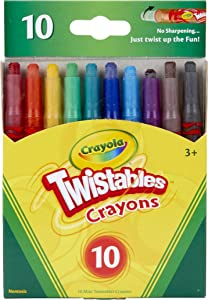 Crayola Twistables Crayons Coloring Set, Twist Up Crayons for Kids, 10 Count