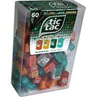 TIC TAC Spender Box with 60 Mini Boxes (Each 3.9 Grams) Liliput, Flavours : Orange, Mint, Peach, Peppermint. by Ferrero