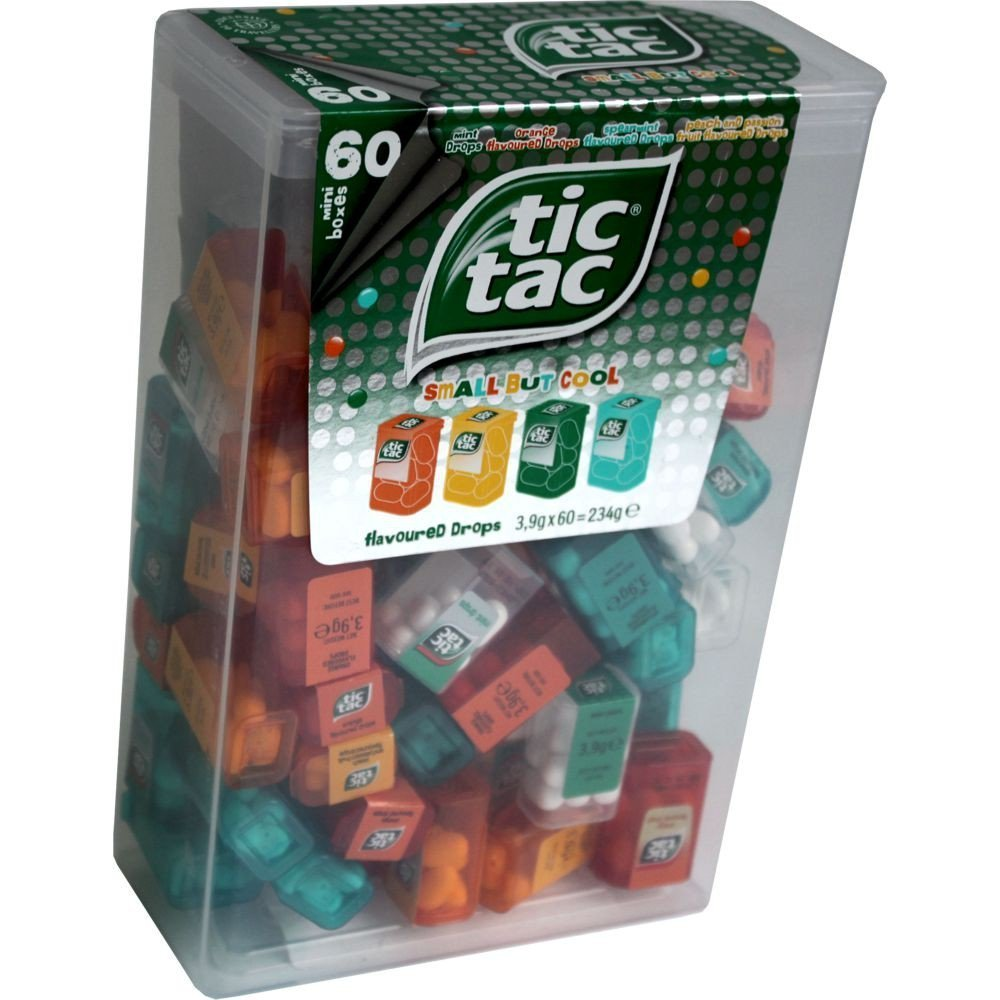 Tic Tac Spender Box with 60 Mini Boxes