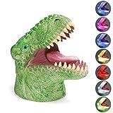 Dinosaur Night Light, Creative 3D Dinosaur Night Light 7 Colors Changing 3D Illusion Dinosaur Night Lamp with Tap Control, Birthday/Halloween for Kids Boys Girls